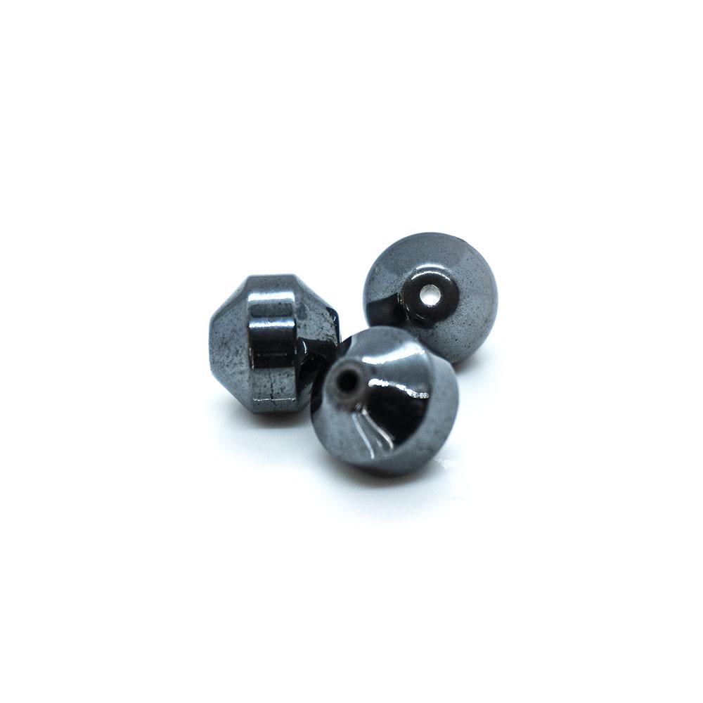 Hematite Bicone Beads - 6mm - 10pc