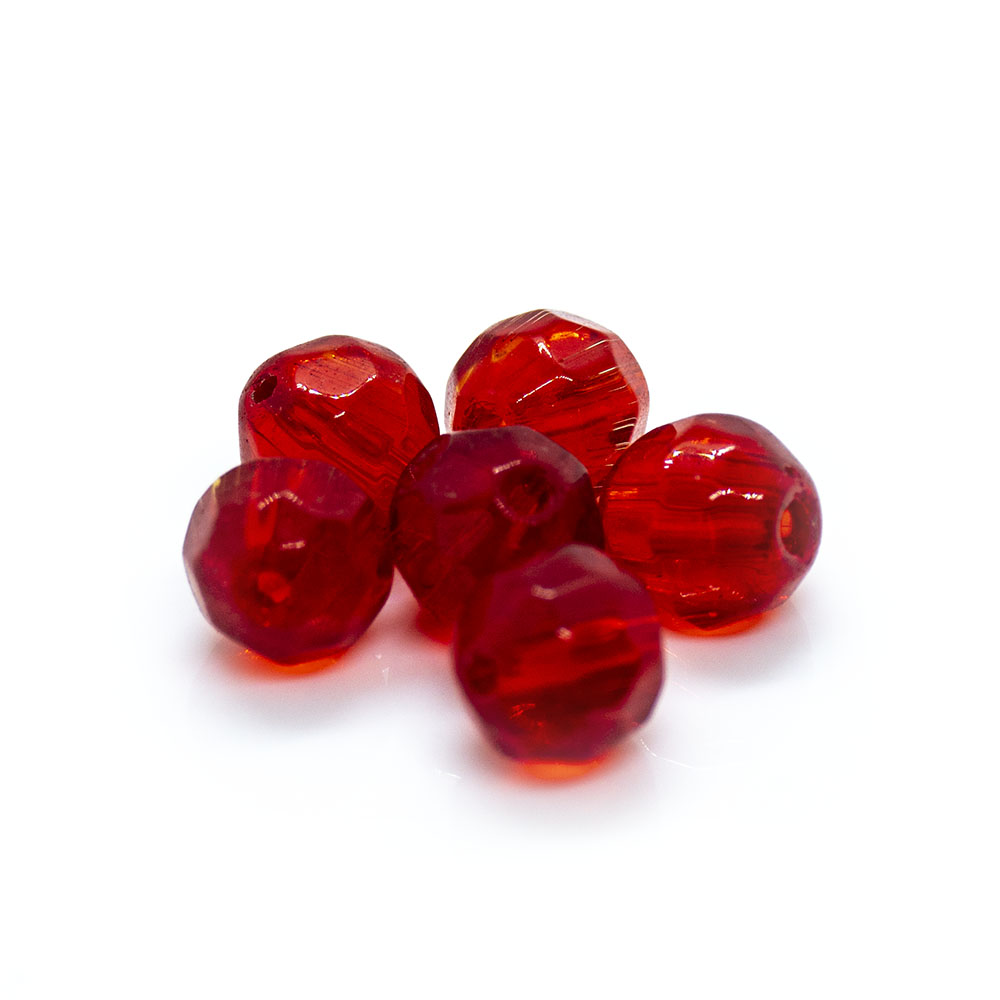 Crystal Glass Faceted Round - 6mm - 20pc