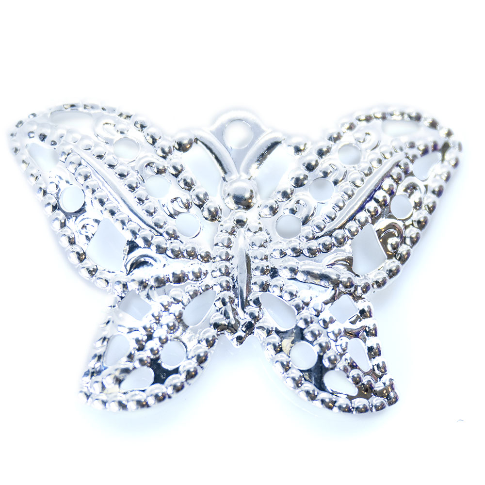 Charm - Fancy Stamped Butterfly - 21x15mm - 1pc