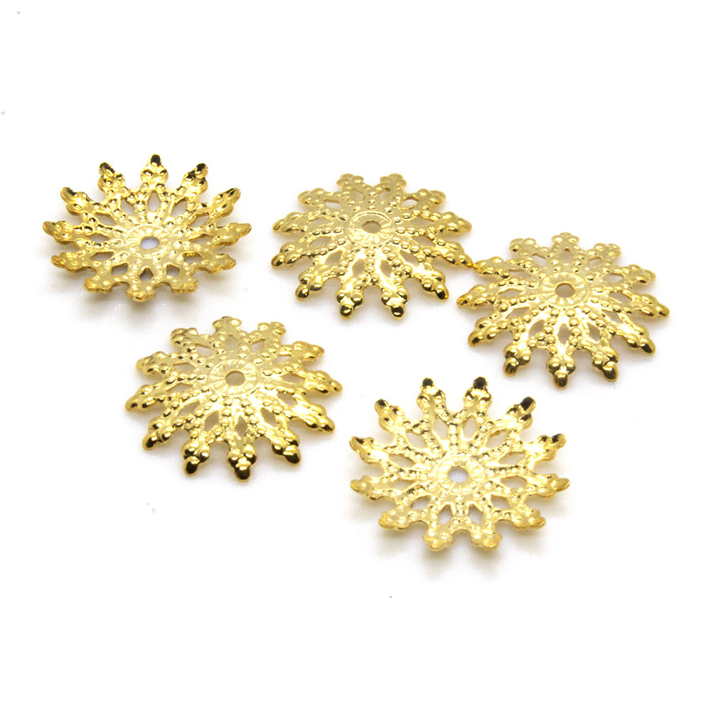 Filigree Bead Caps - 12mm - 10pc