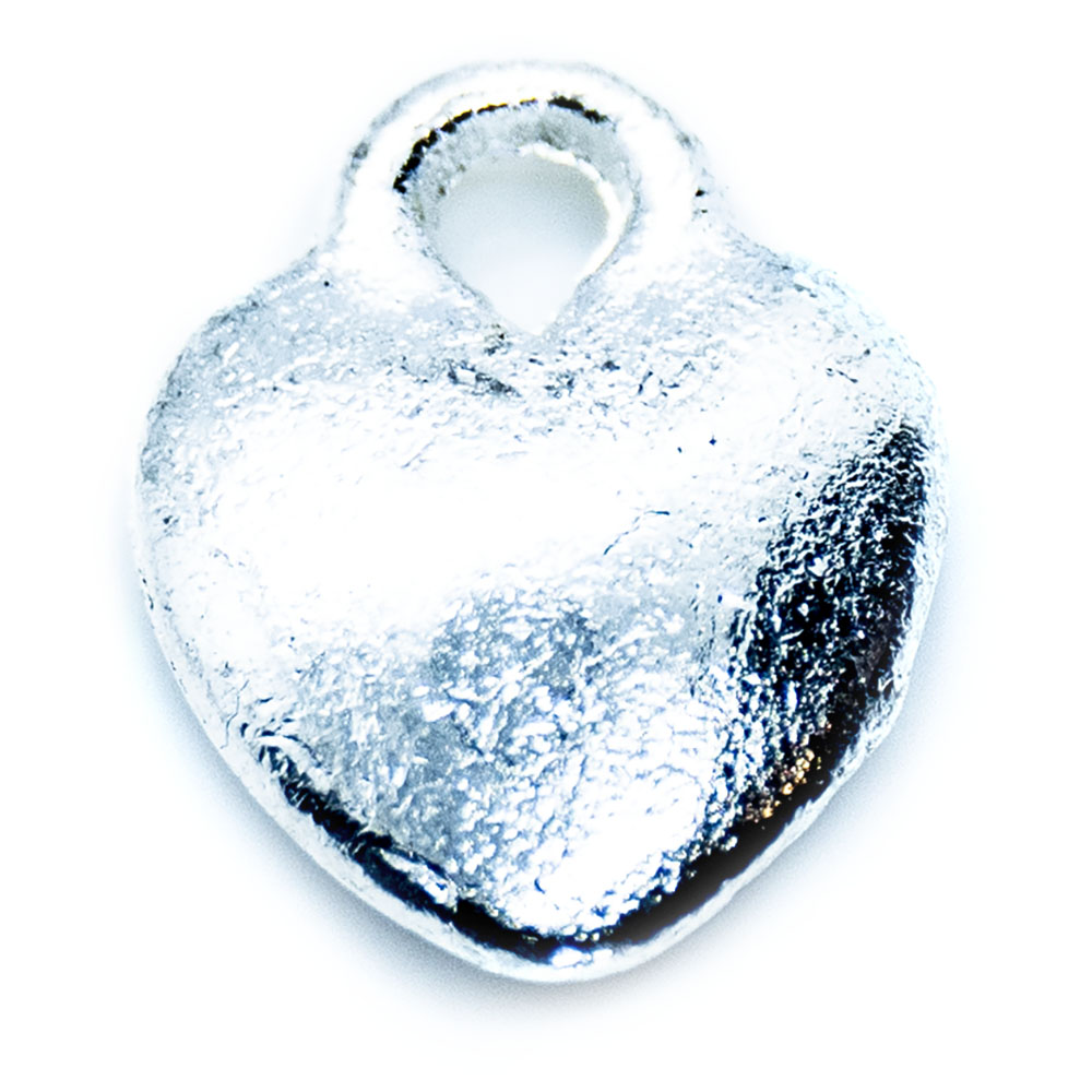 Heart Charm - 11x9mm - 1pc