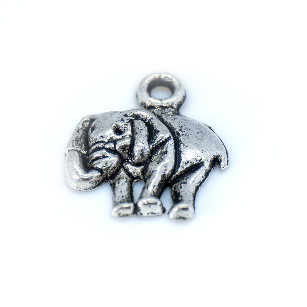 Elephant Charm - 16x14mm - 1pc