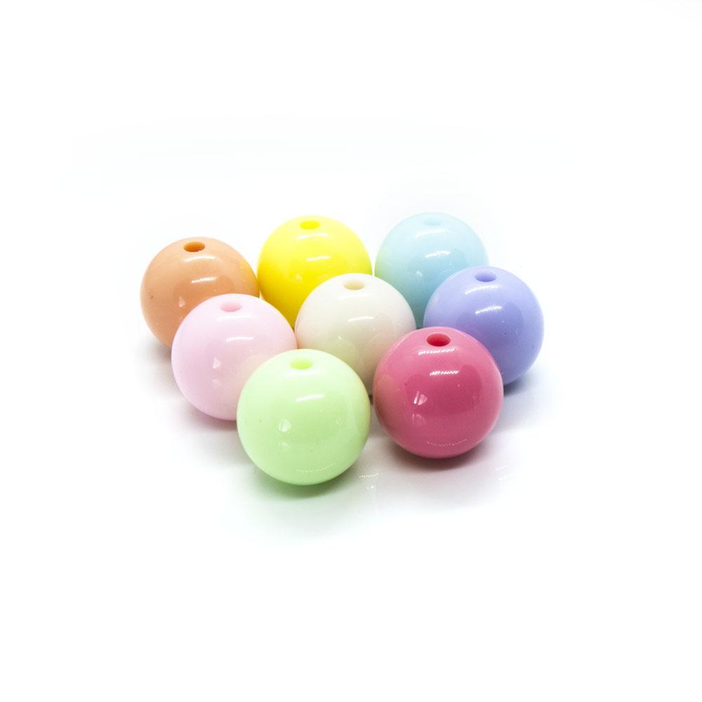Bubblegum Acrylic Ball - 16mm - 5pc