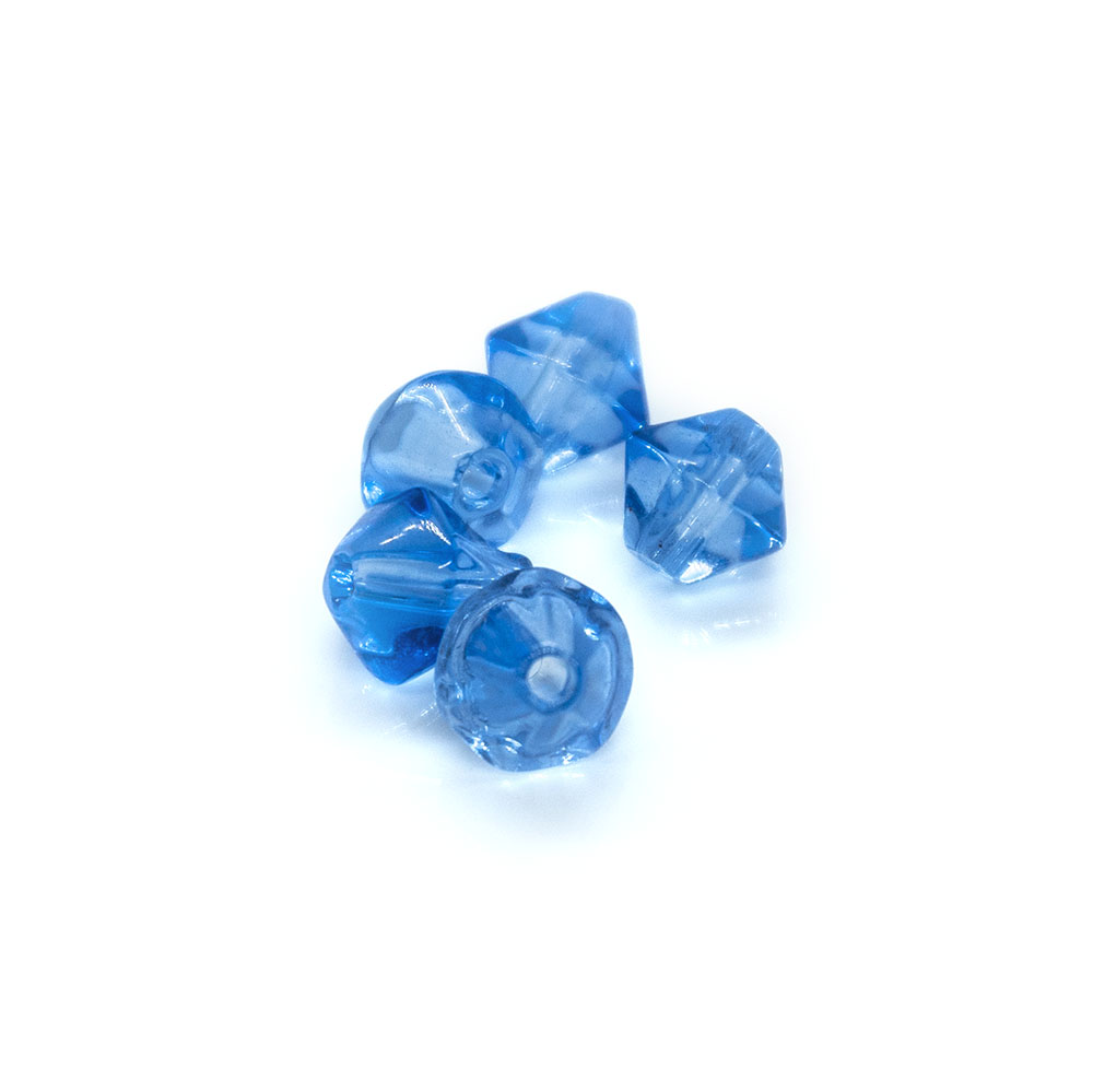 Crystal Glass Bicone - 6mm - 10pc