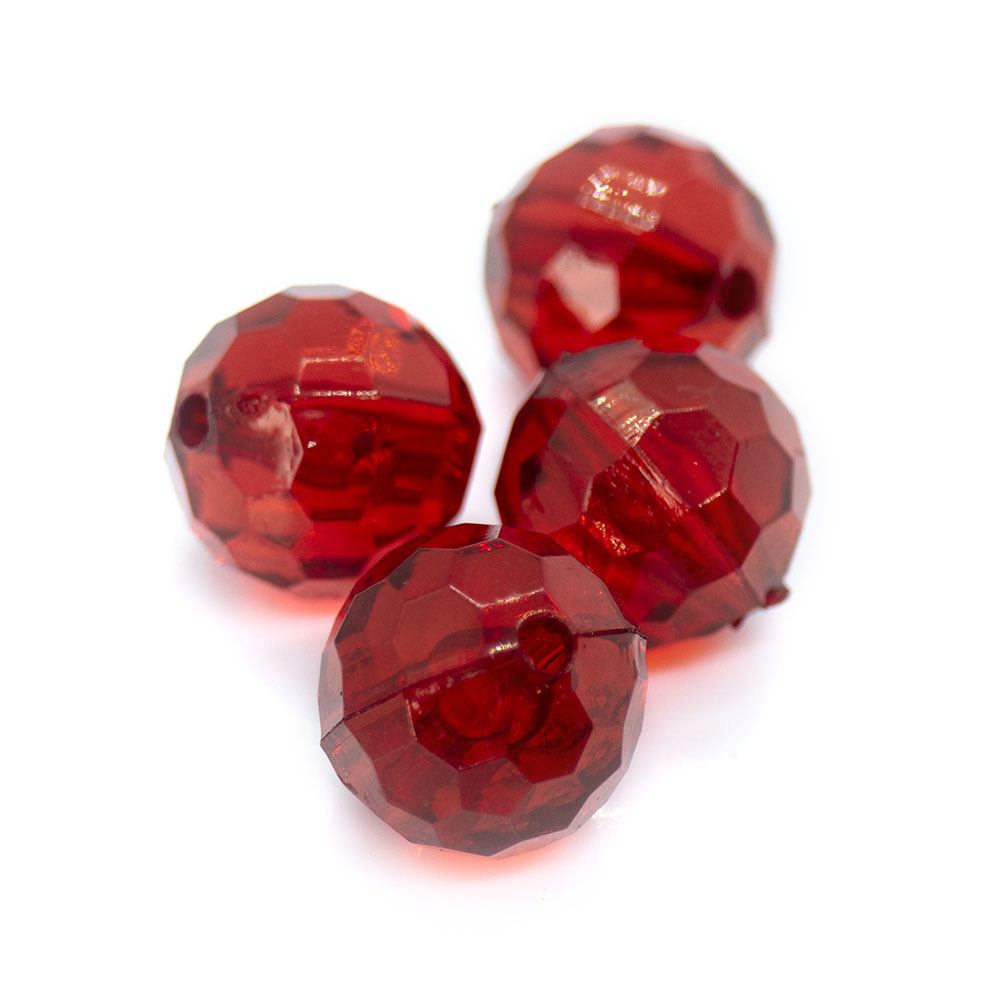 Acrylic Faceted Round - 12mm - 1pc