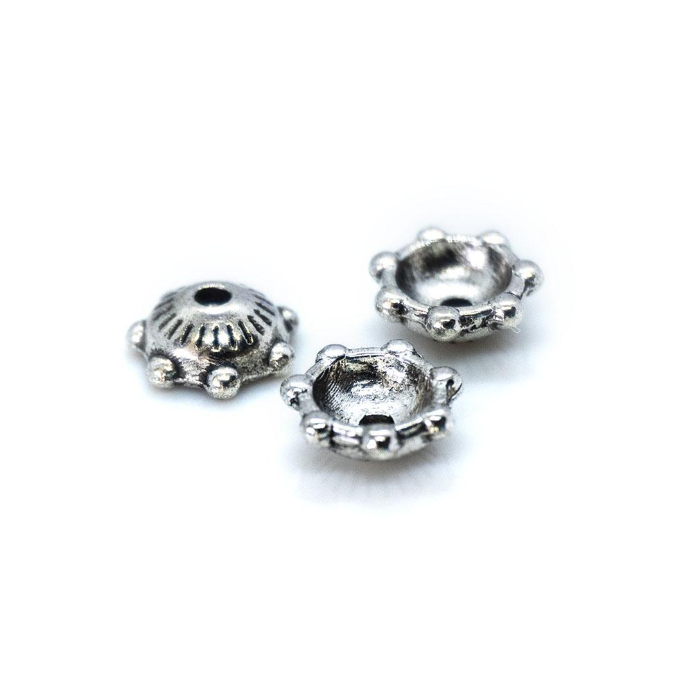 Bead Caps Tibetan Silver Flower - 6mm - 10pc