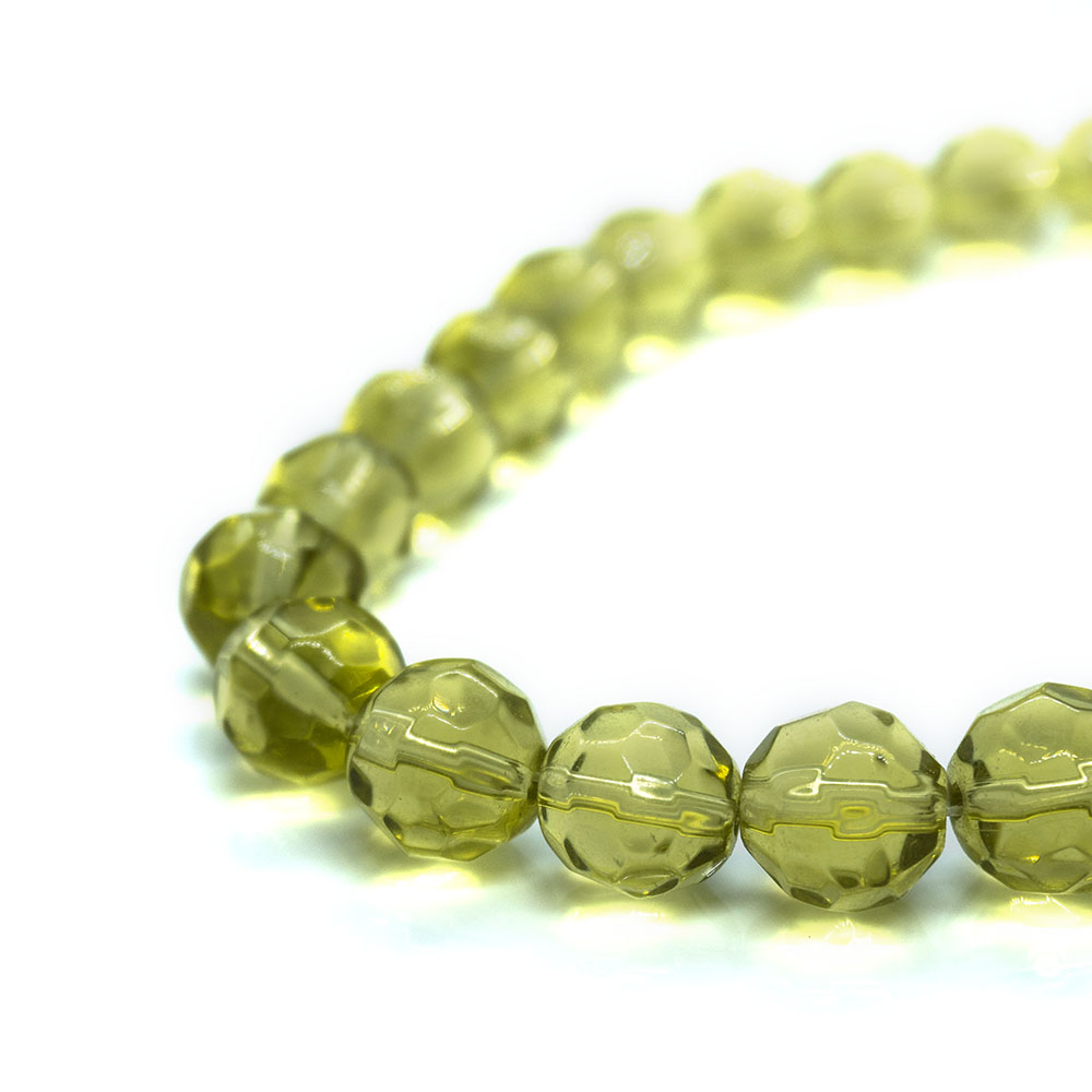 Chinese Crystal Faceted Glass Beads - 12mm
