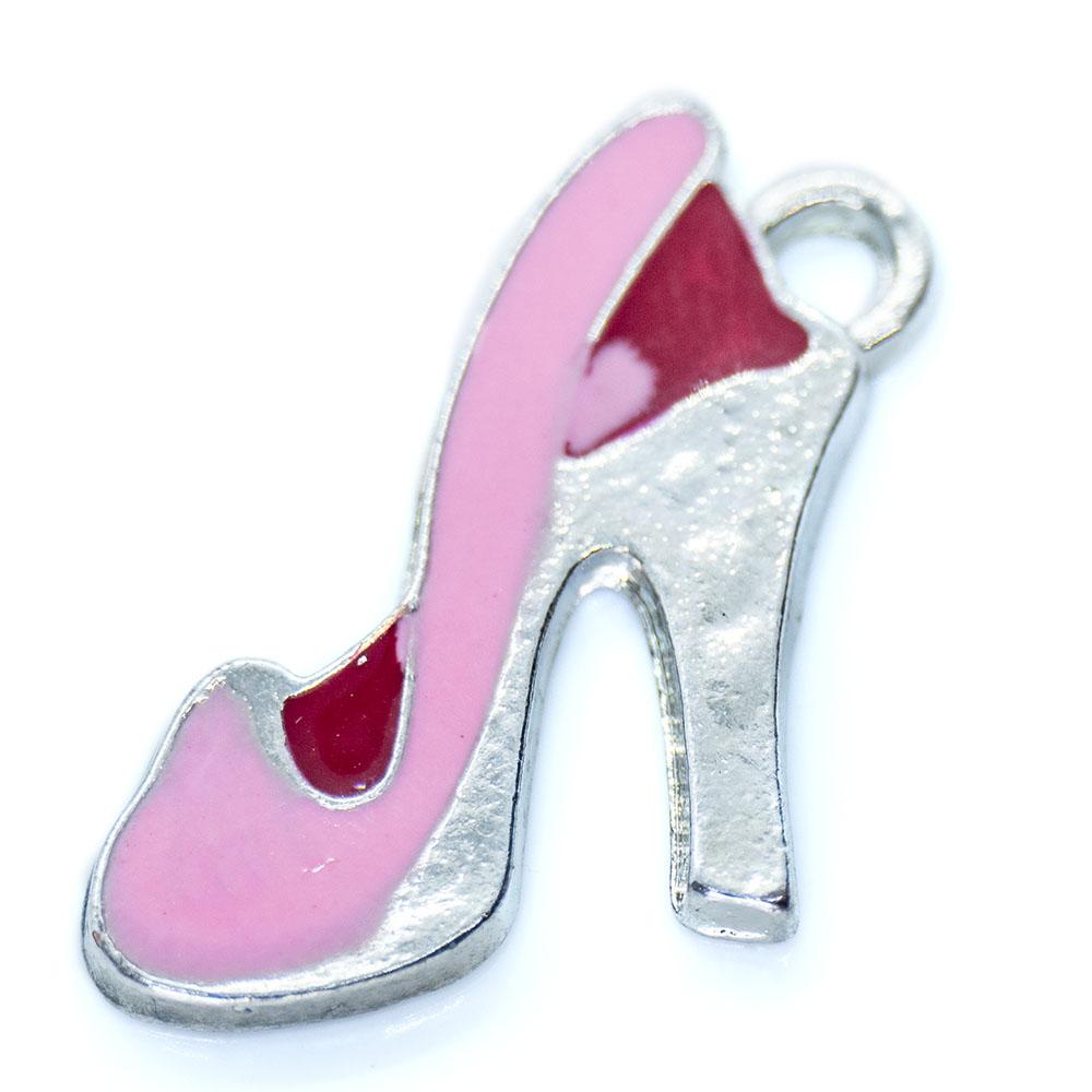 Enamel Shoe Charm - 21x14mm - 1pc