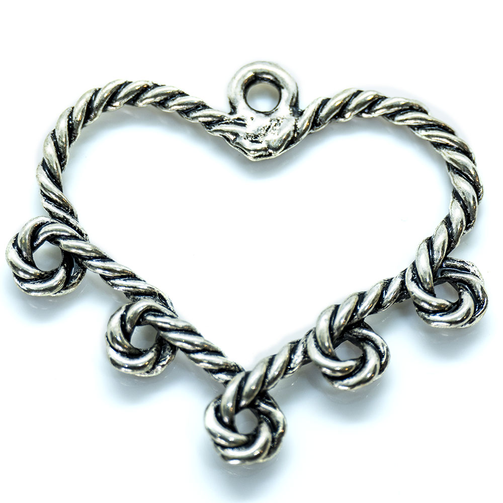 Heart with Five Loops - 29 x 34mm