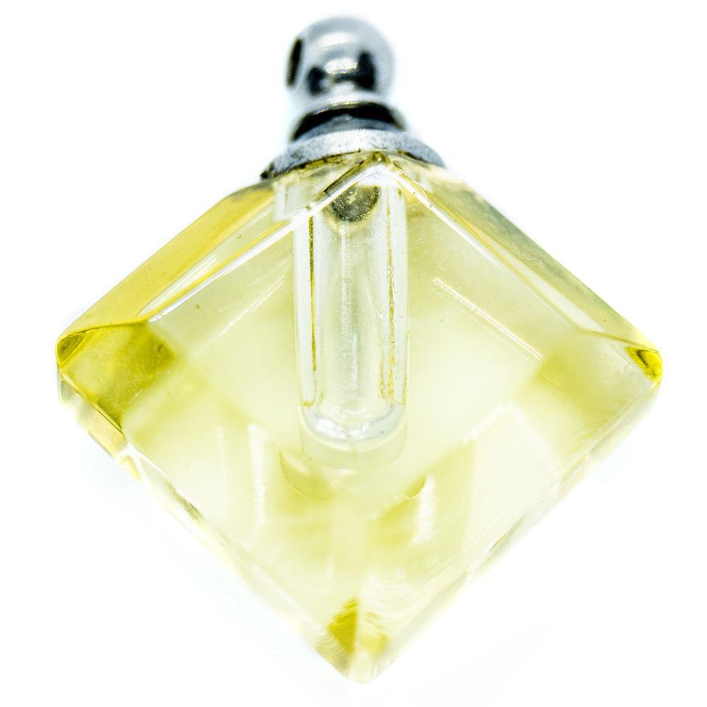 Transparent Glass Diamond Pendant with Diamante - 22x18mm - 1pc