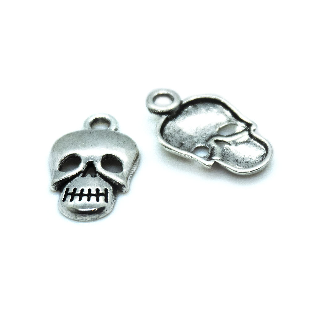 Skull Charms - Cadmium and Lead Free - 16x10mm - 1pc