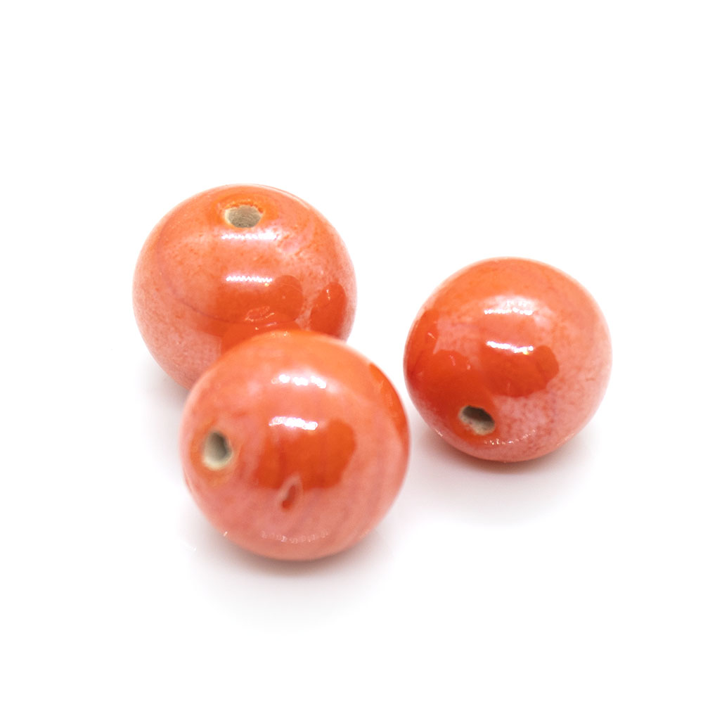 Indian Glass Round Beads - 8mm - 2pc