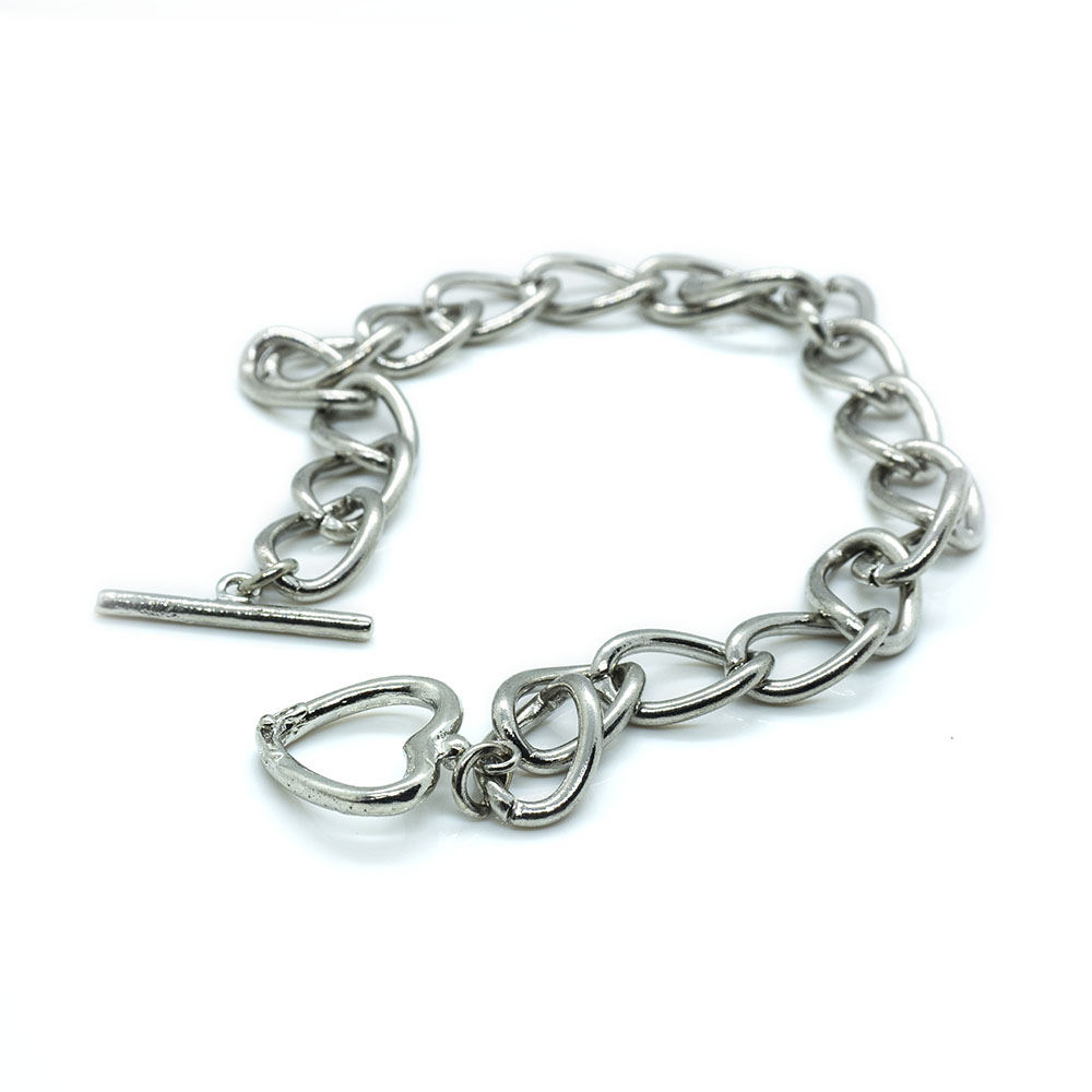 Cable Chain with Toggle Clasp - 24cm including clasp - 1pc