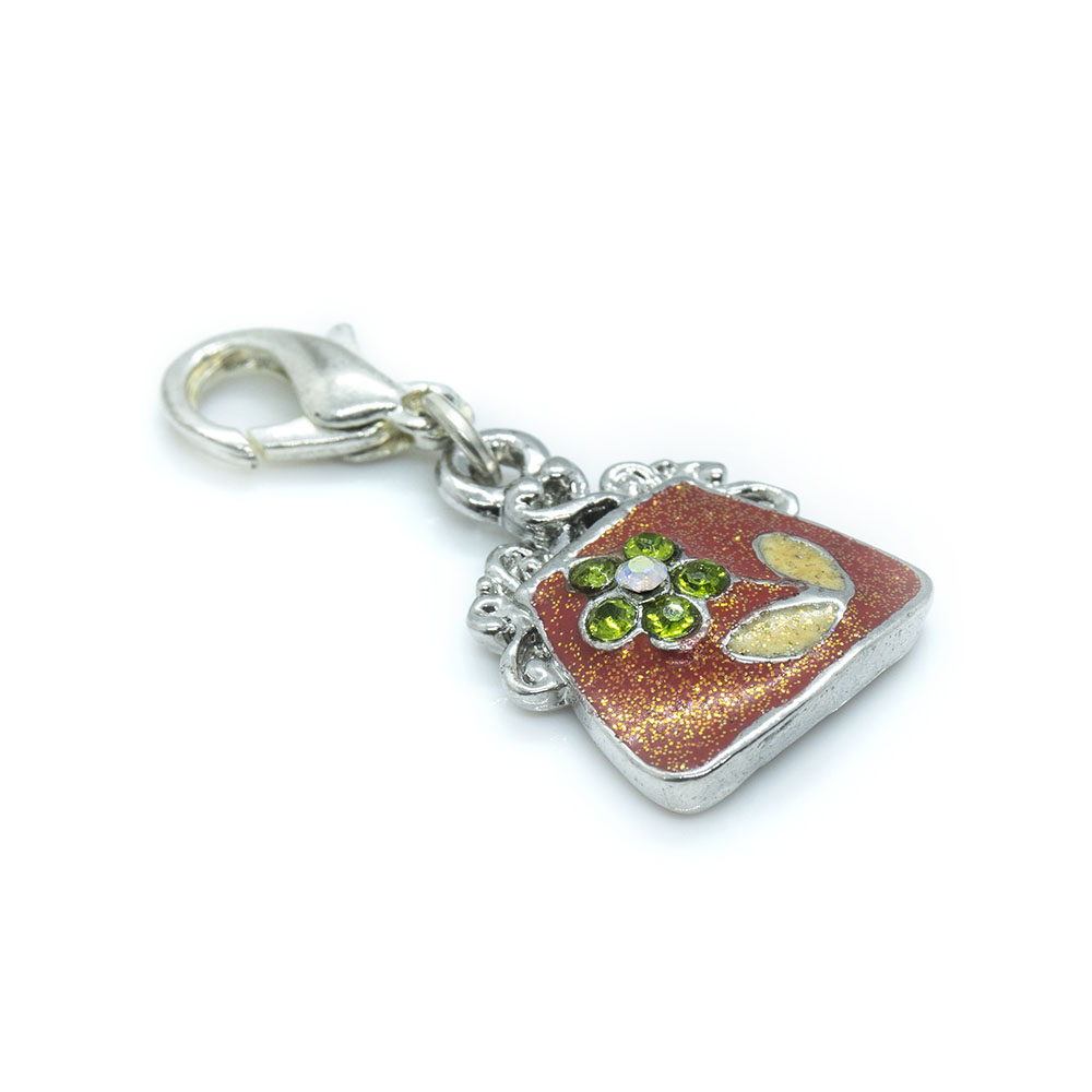 Handbag Charm with Lobster Clasp - 30x15mm including Clasp - 1pc