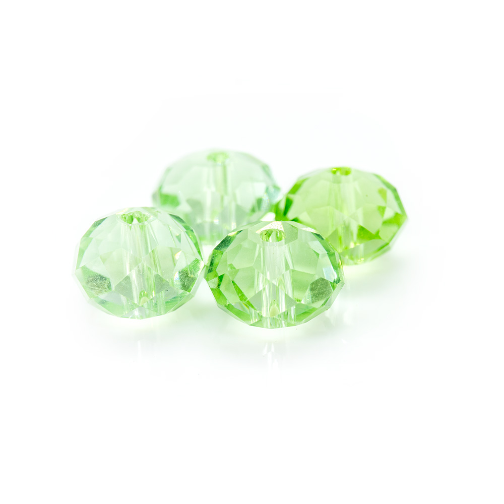 Glass Crystal Faceted Rondelle - 8x6mm - 1pc