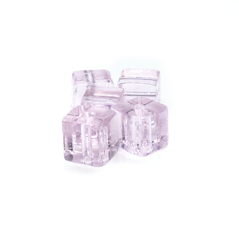 Crystal Glass Cube With Slightly Rounded Corners - 5mm - 10pc