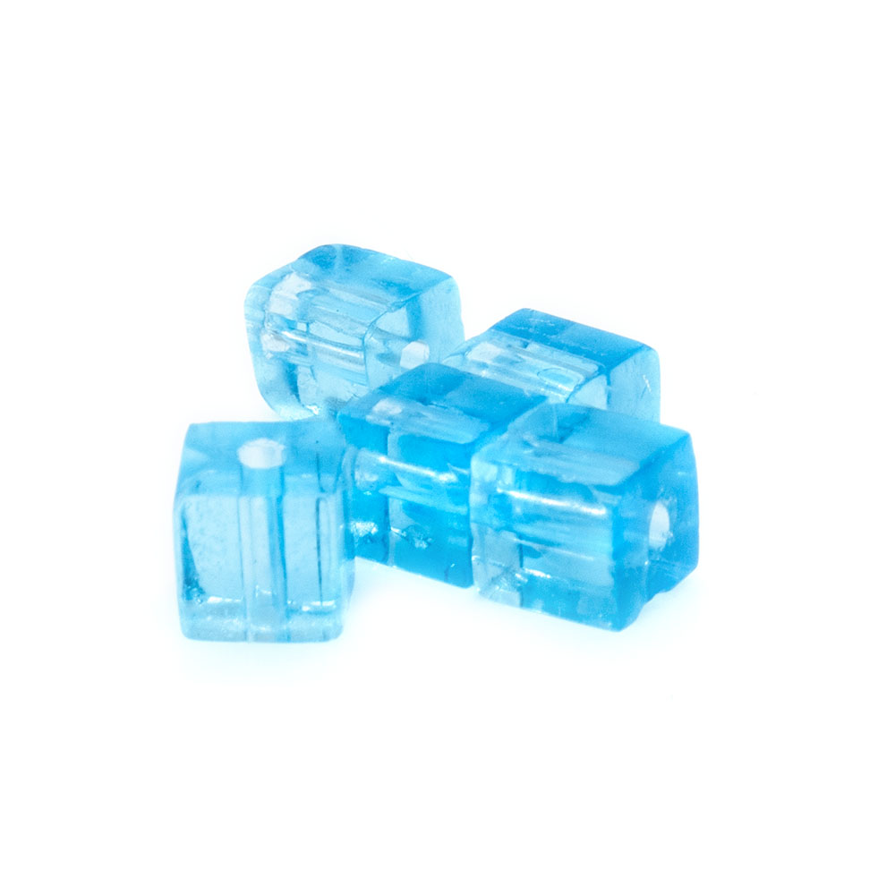 Crystal Glass Cube - 5mm - 10pc