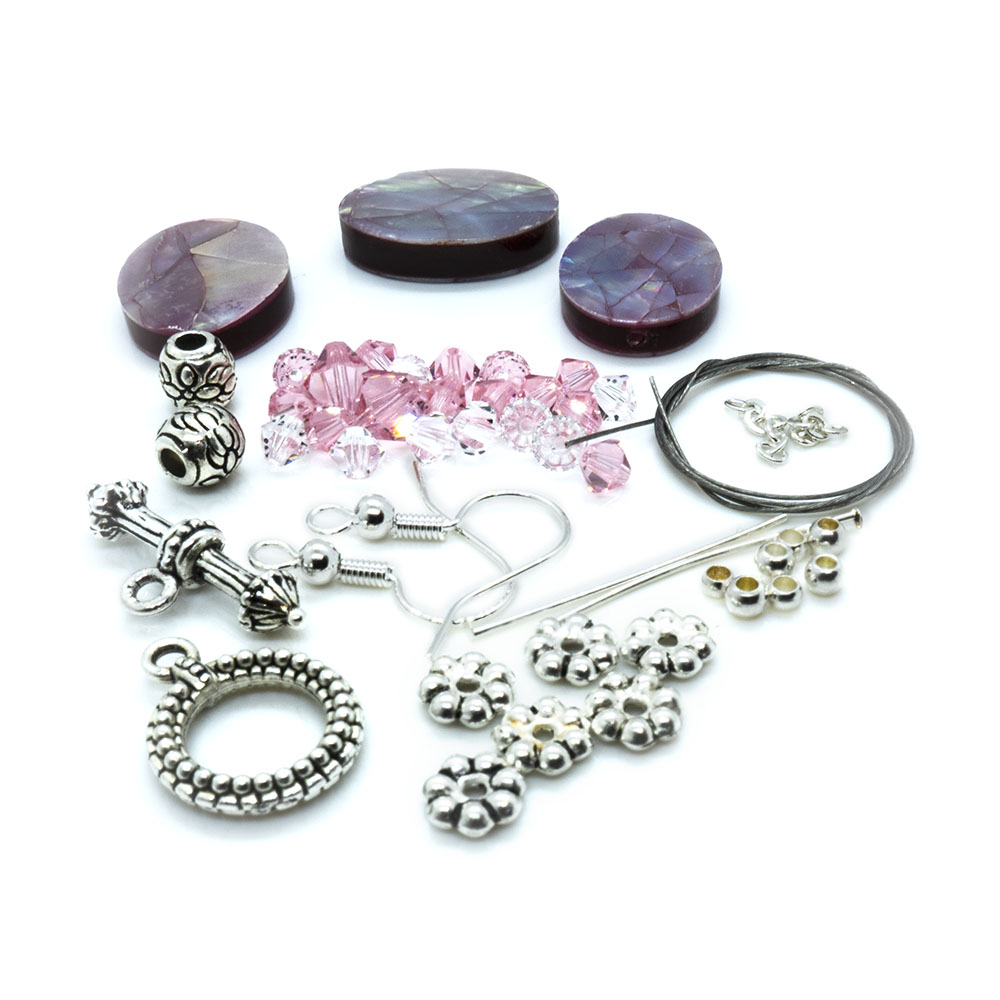 Crystal Innovations - Mosaic Oval and Crystal Bracelet and Earrings Kit