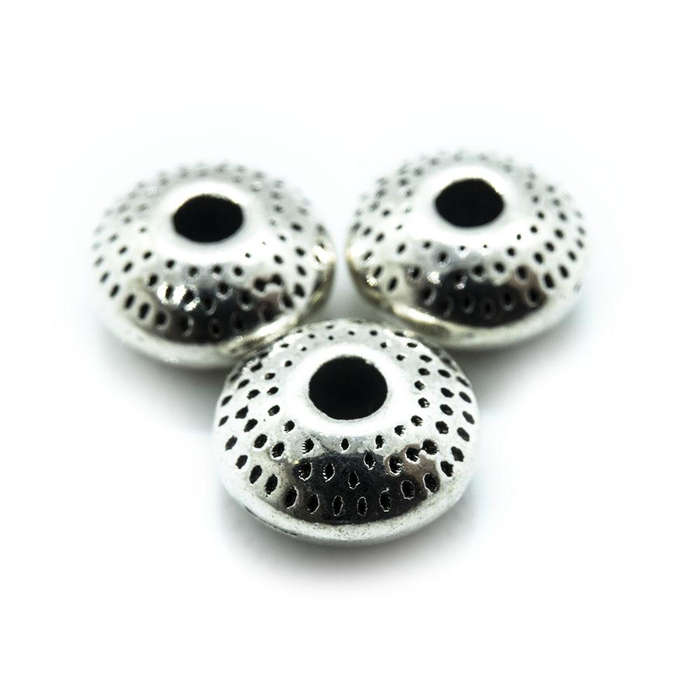 Tibetan Style Metal Rondelle - 8x3.5mm - 5pc