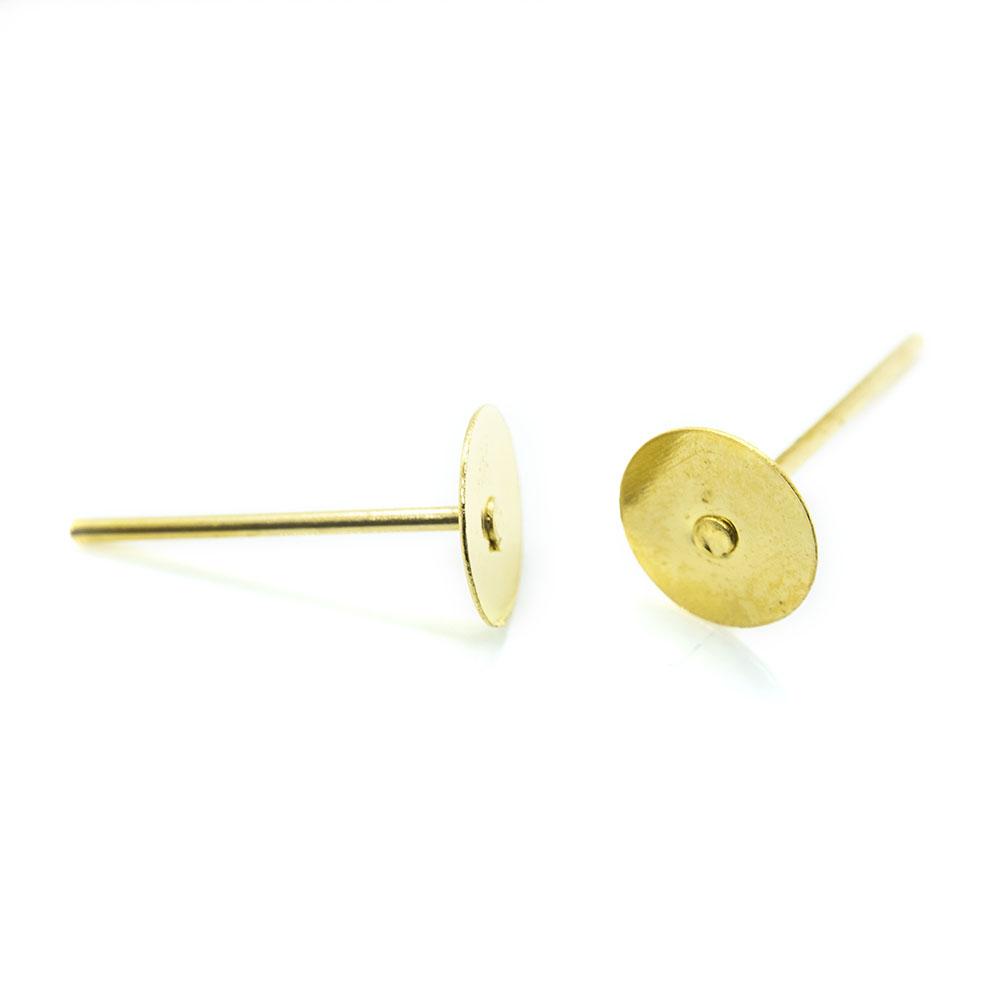 Earring Stud Posts - 12x6mm -1pr