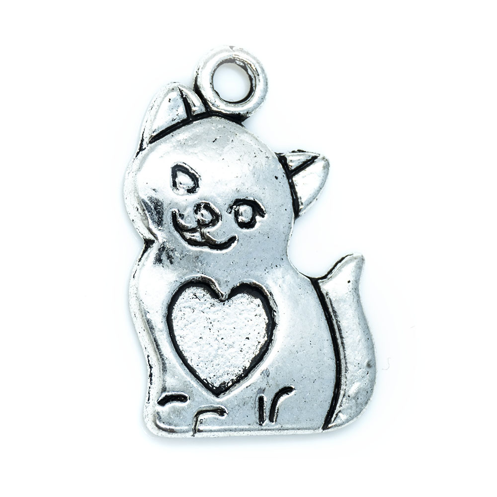 Kitten Charm - 21x13.5mm - 1pc