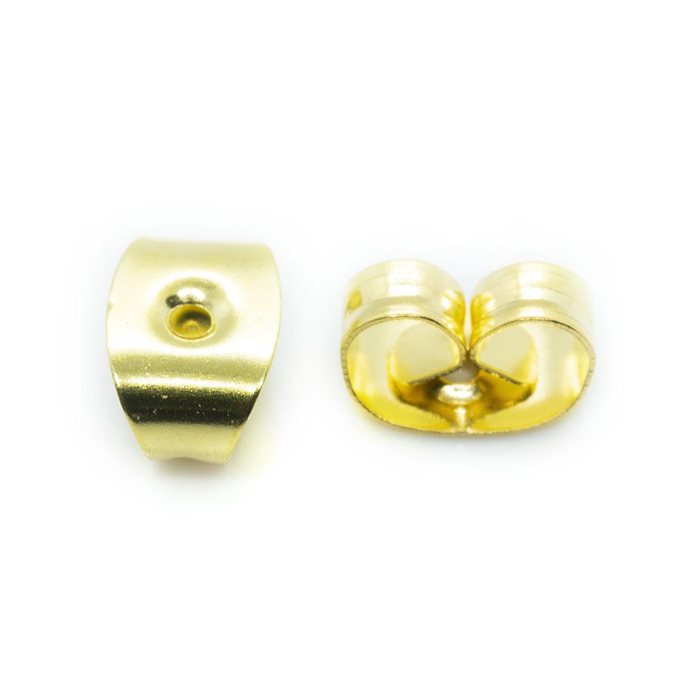 Earring Back Butterfly - 6x4x3mm - 10pr