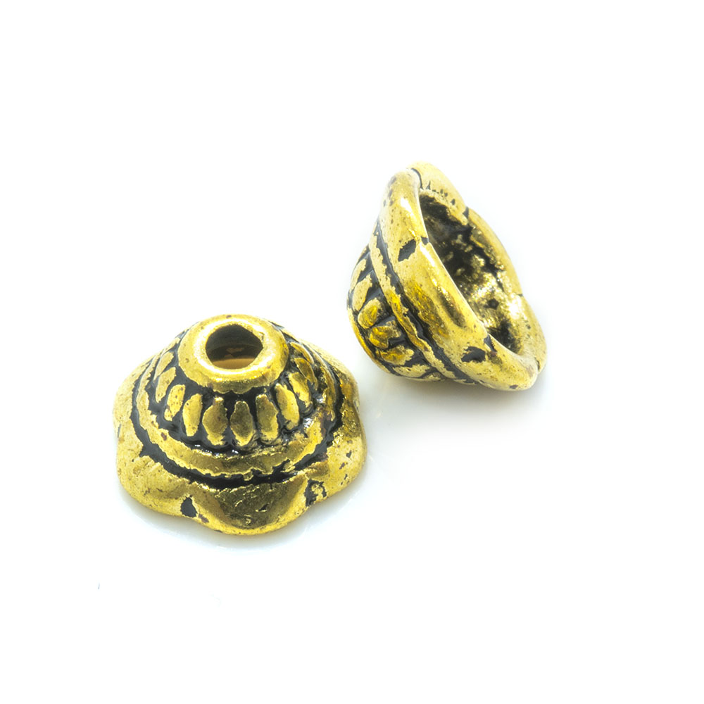 Tibetan Style Bead Caps - 8mm - 10pc