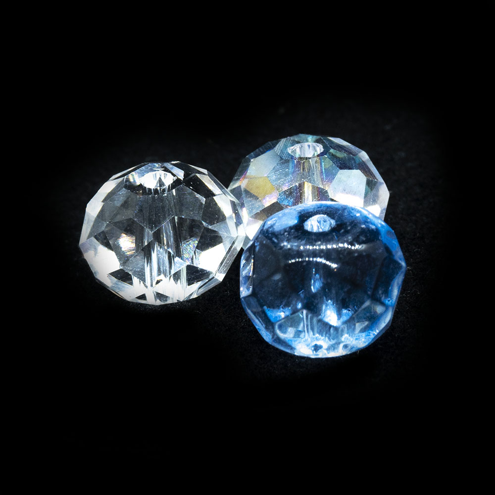Chinese Crystal Glass Rondelle 8mm x 6mm