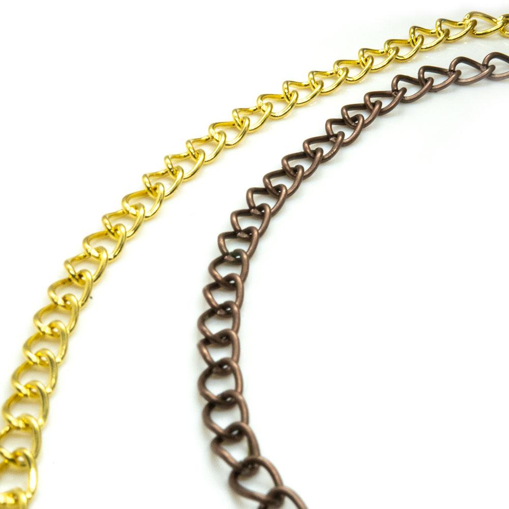 Twist Curb Chain 5mm x 3.5mm x 1m