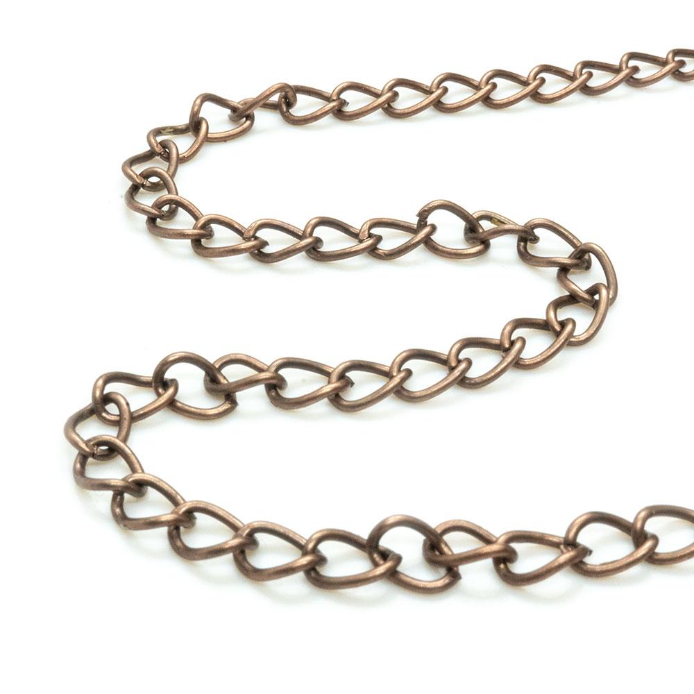 Twist Curb Chain - 5x3.5mm - 1m