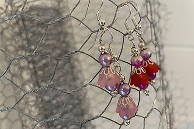 Beginner Jewellery Project - How to Make Flower Bell Earrings