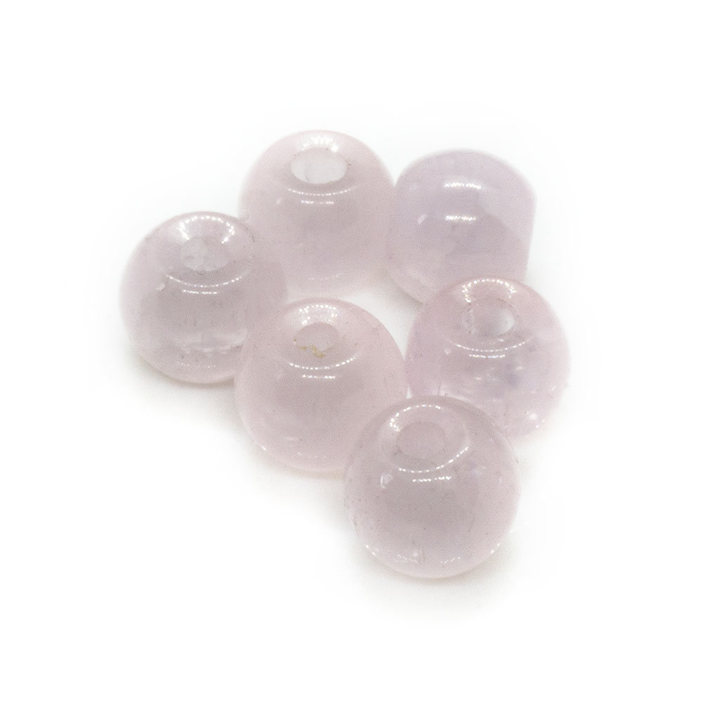 Opaque Round Glass Beads - 6mm - 20pc