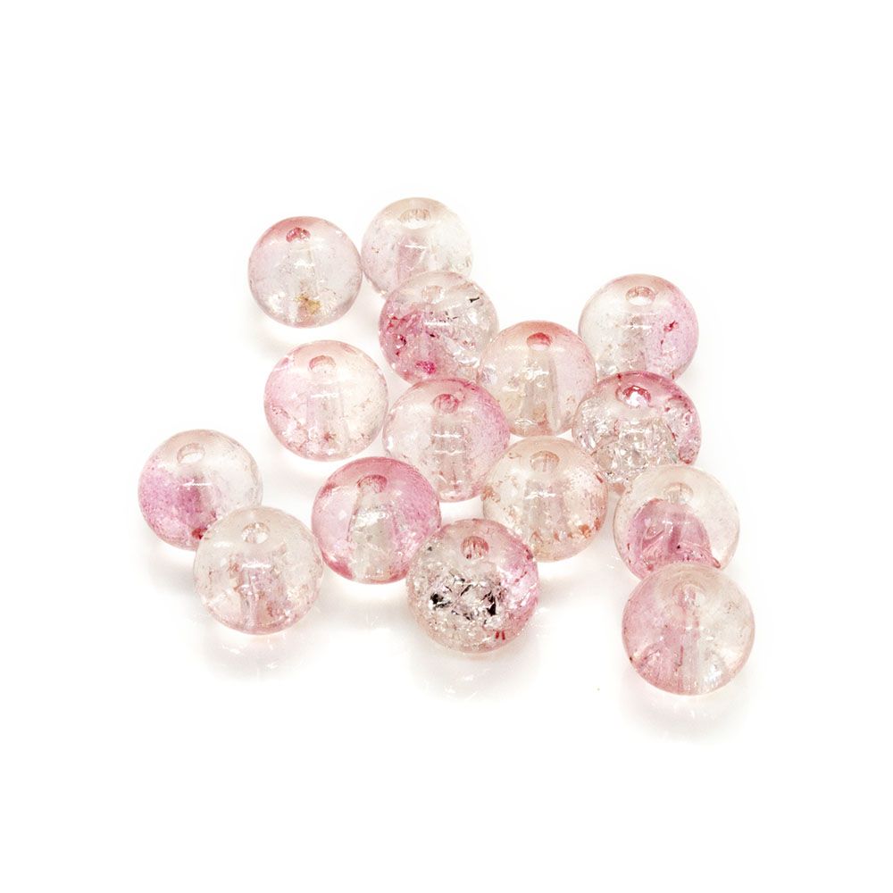 Glass Crackle Beads - 6mm - 20pc