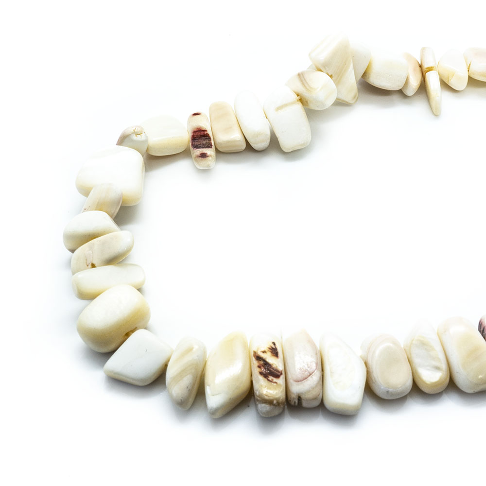 Mother of Pearl Shell Chips Large - 40cm Strand