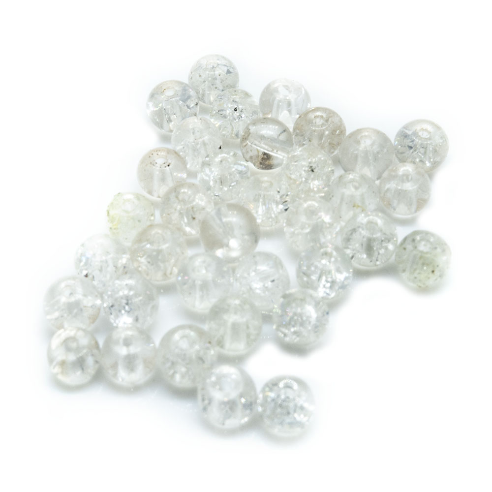Glass Crackle Beads - 3mm - 20pc