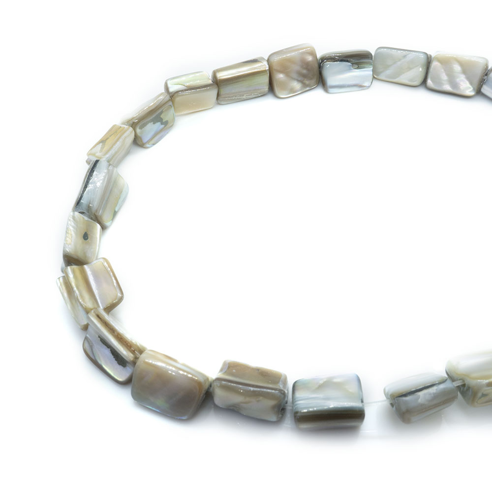 Mother of Pearl - About 10mm Pieces - 40cm Strand