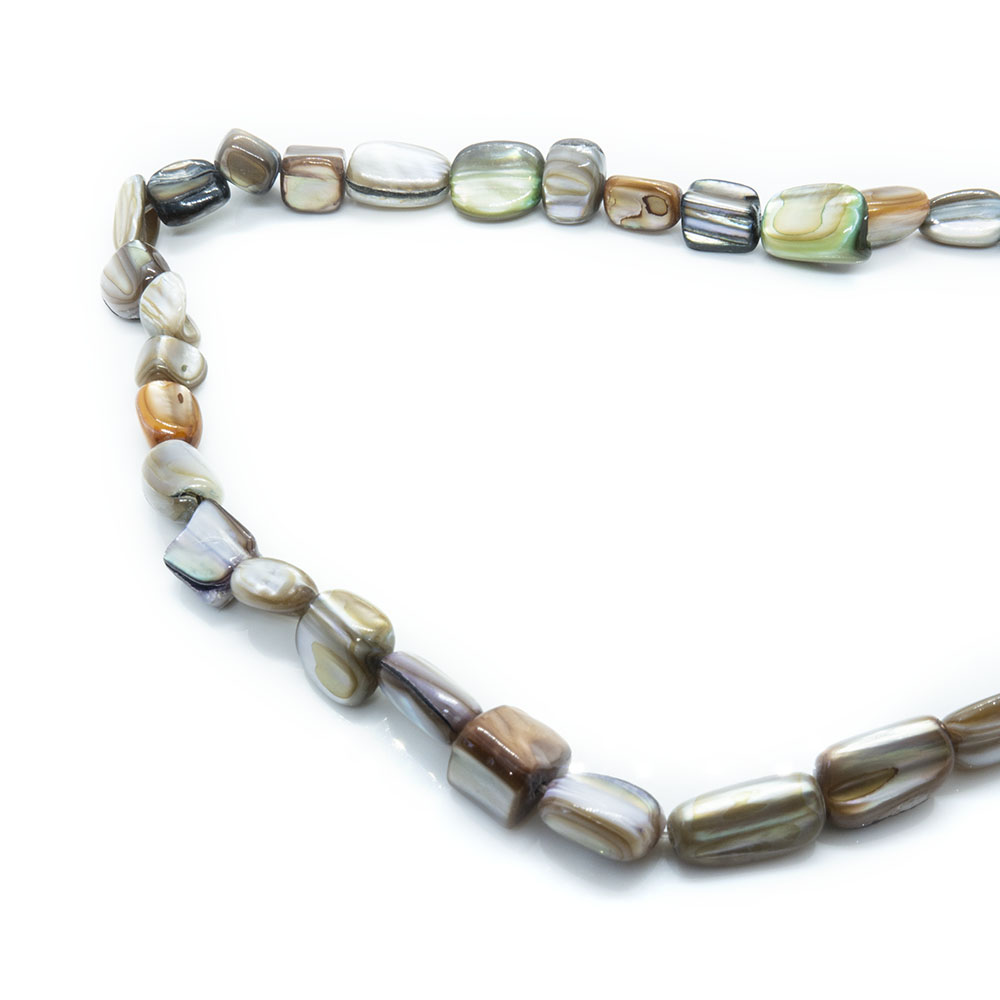 Mother of Pearl - Mixed Sized Pieces - 40cm Strand