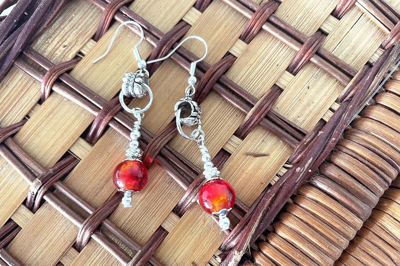 Five Minute Earrings - Red