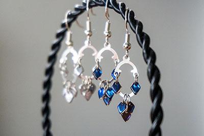 Five Minute Earrings - Dragon Scale Earrings