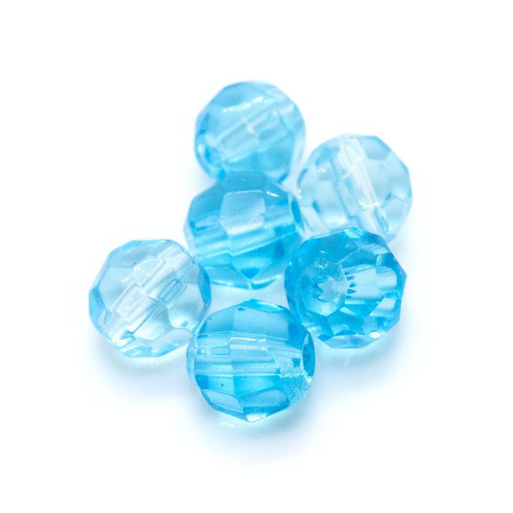 Crystal Glass Faceted Round 6mm