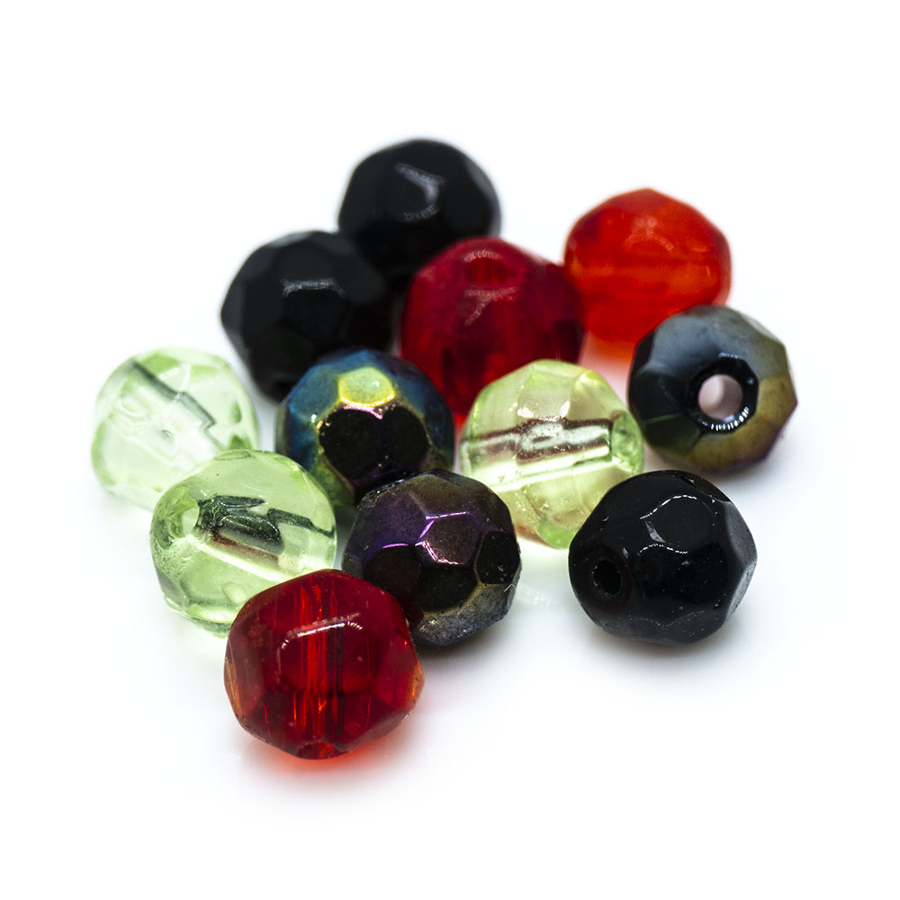 Crystal Glass Faceted Round - 4mm - 20pc