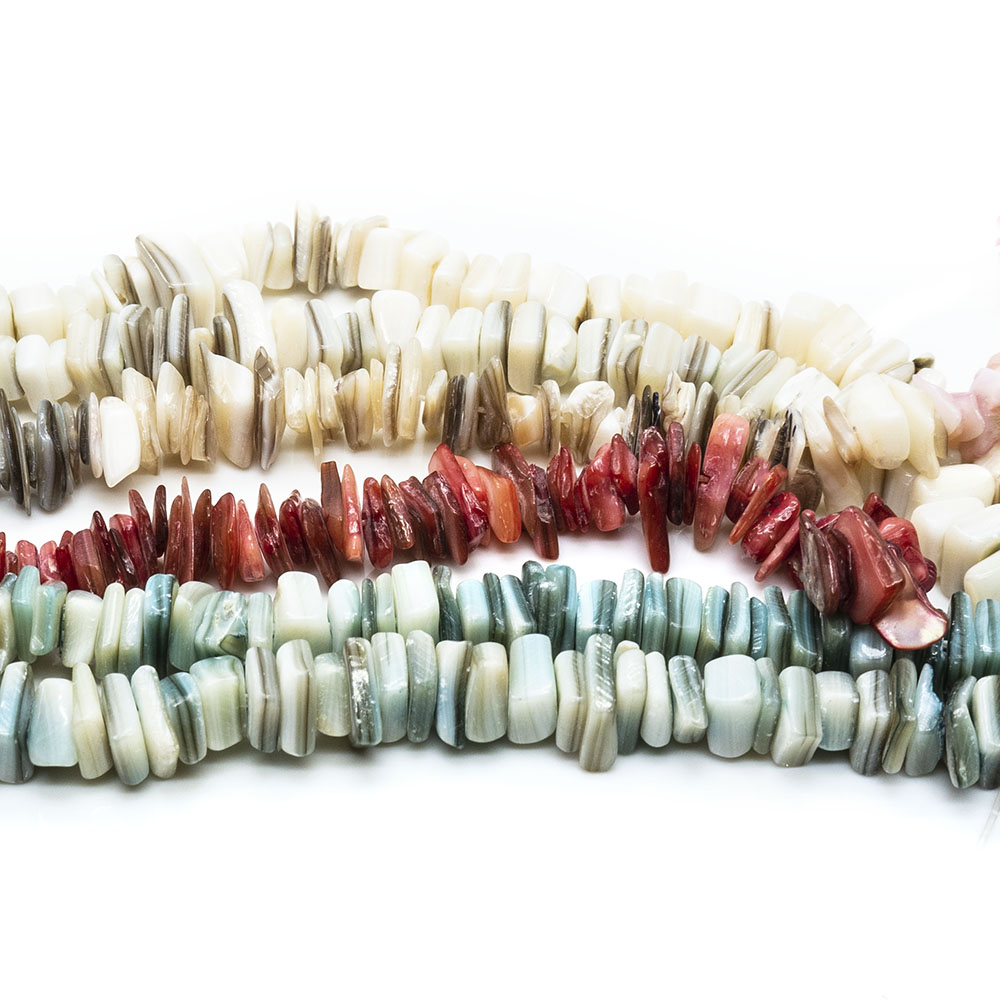 Mother of Pearl Shell Chips Small - 40cm Strand