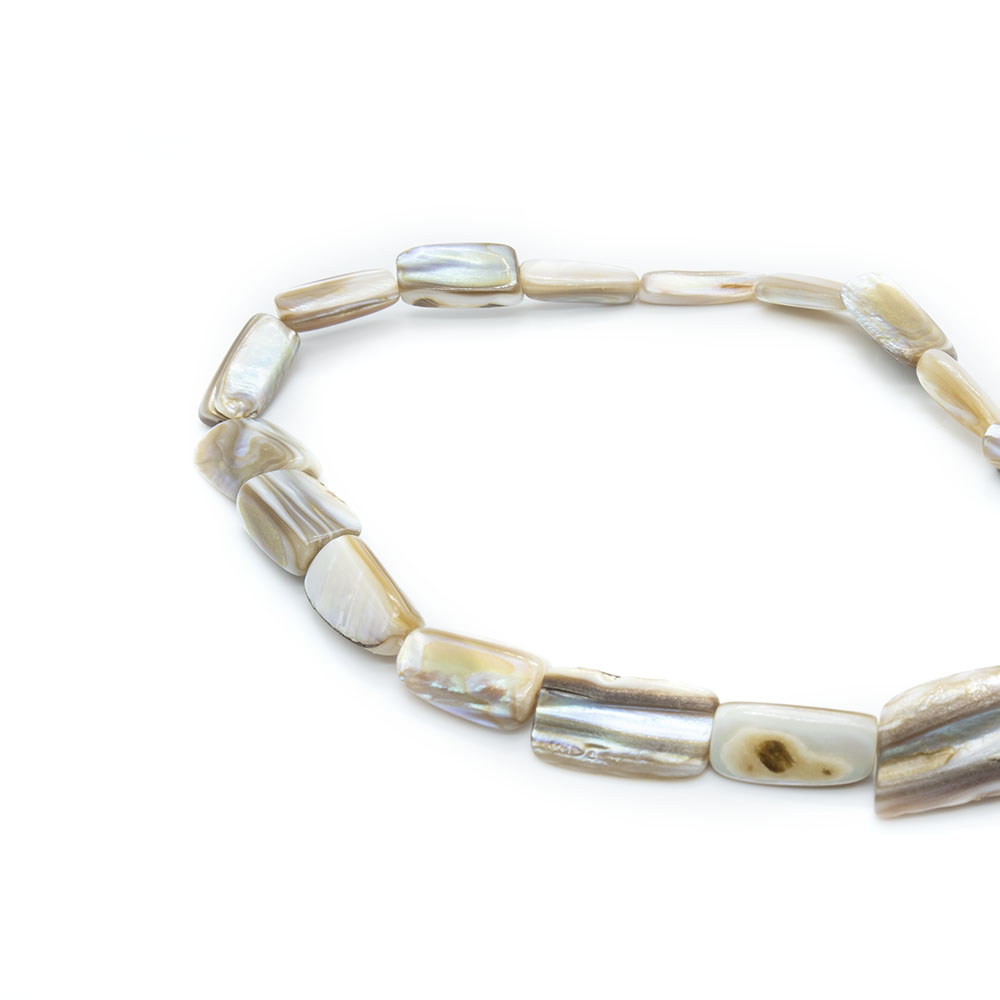 Mother of Pearl - Approximately 13mm Pieces - 40cm Strand