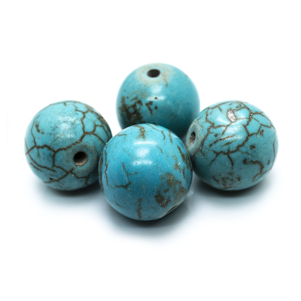 Magnesite (dyed/stabilised) Round Beads 11mm - 12mm