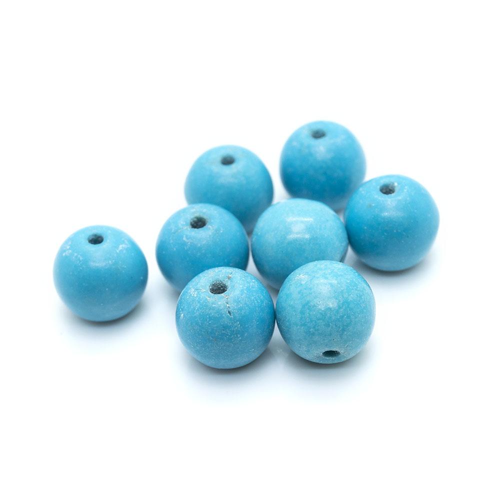 Magnesite (dyed/stabilised) Round Beads 6mm