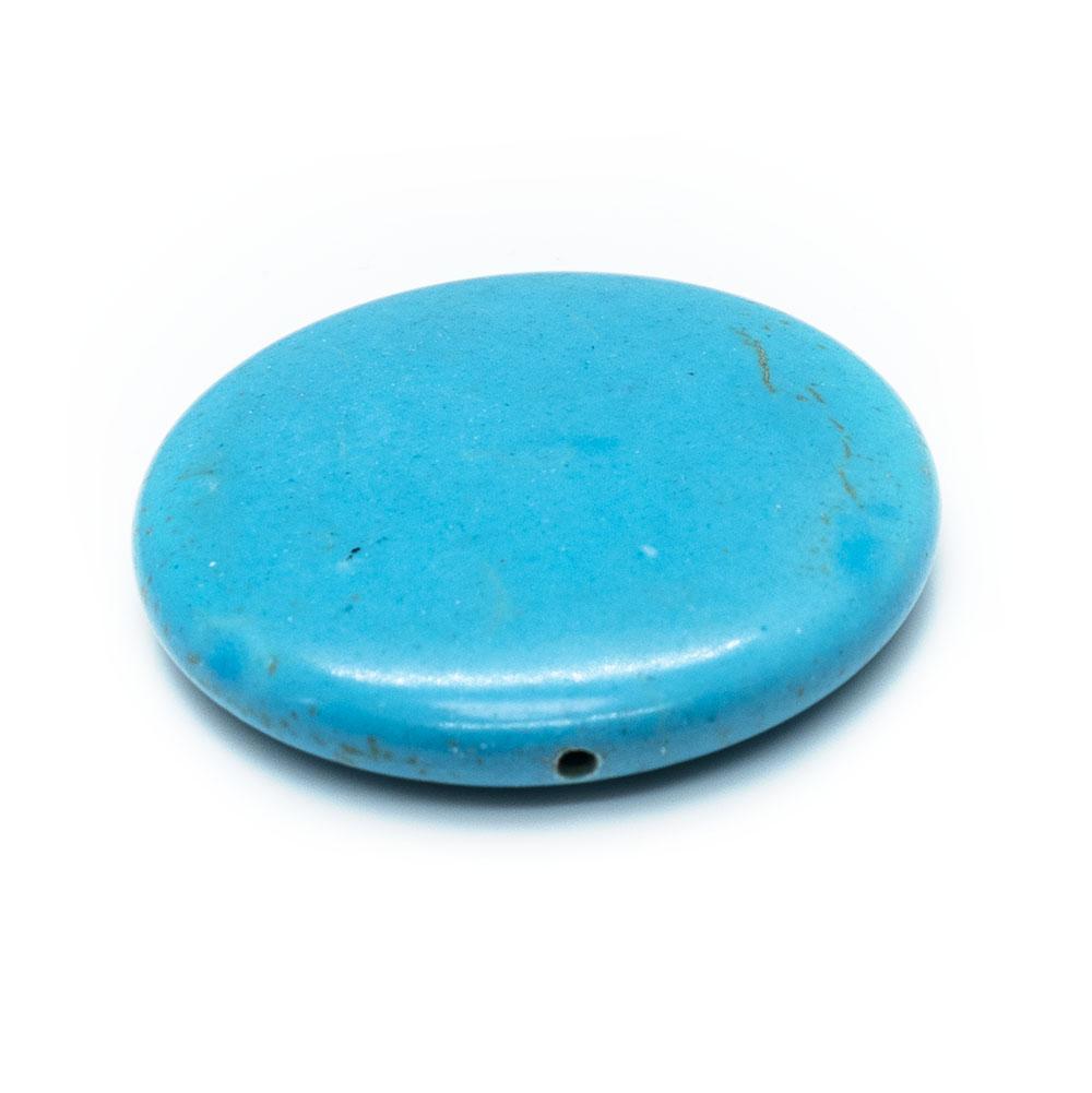 Magnesite (dyed/stabilised) Flat Round 40mm x 5mm