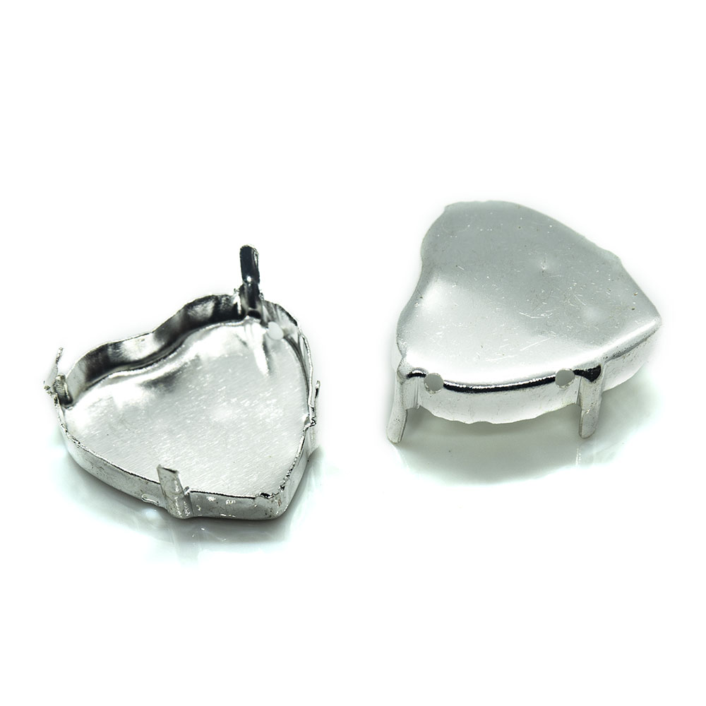 Heart Shaped Rhinestone Claw Setting for Cabochon 20mm