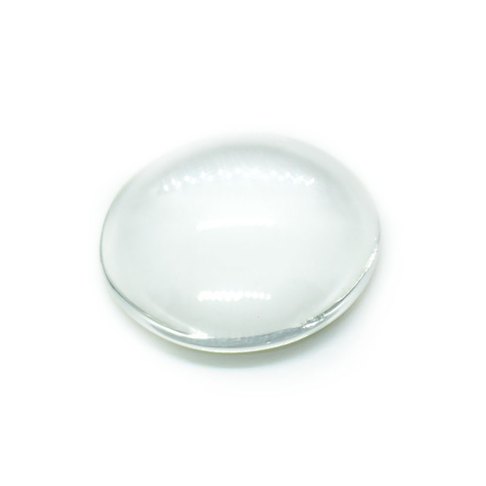 Transparent Glass Cabochons Half Round Dome 25mm x 6mm - 7mm