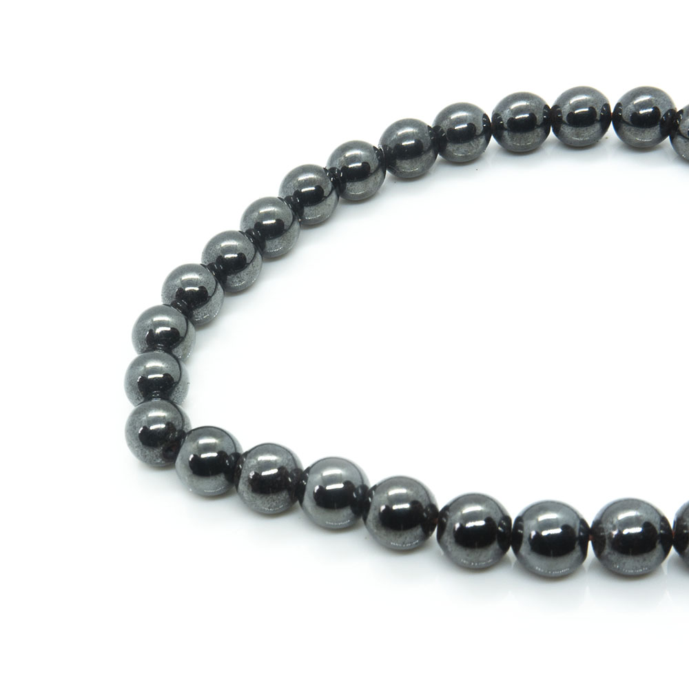 Magnetic Synthetic Hematite Round Beads 6mm x 40cm length