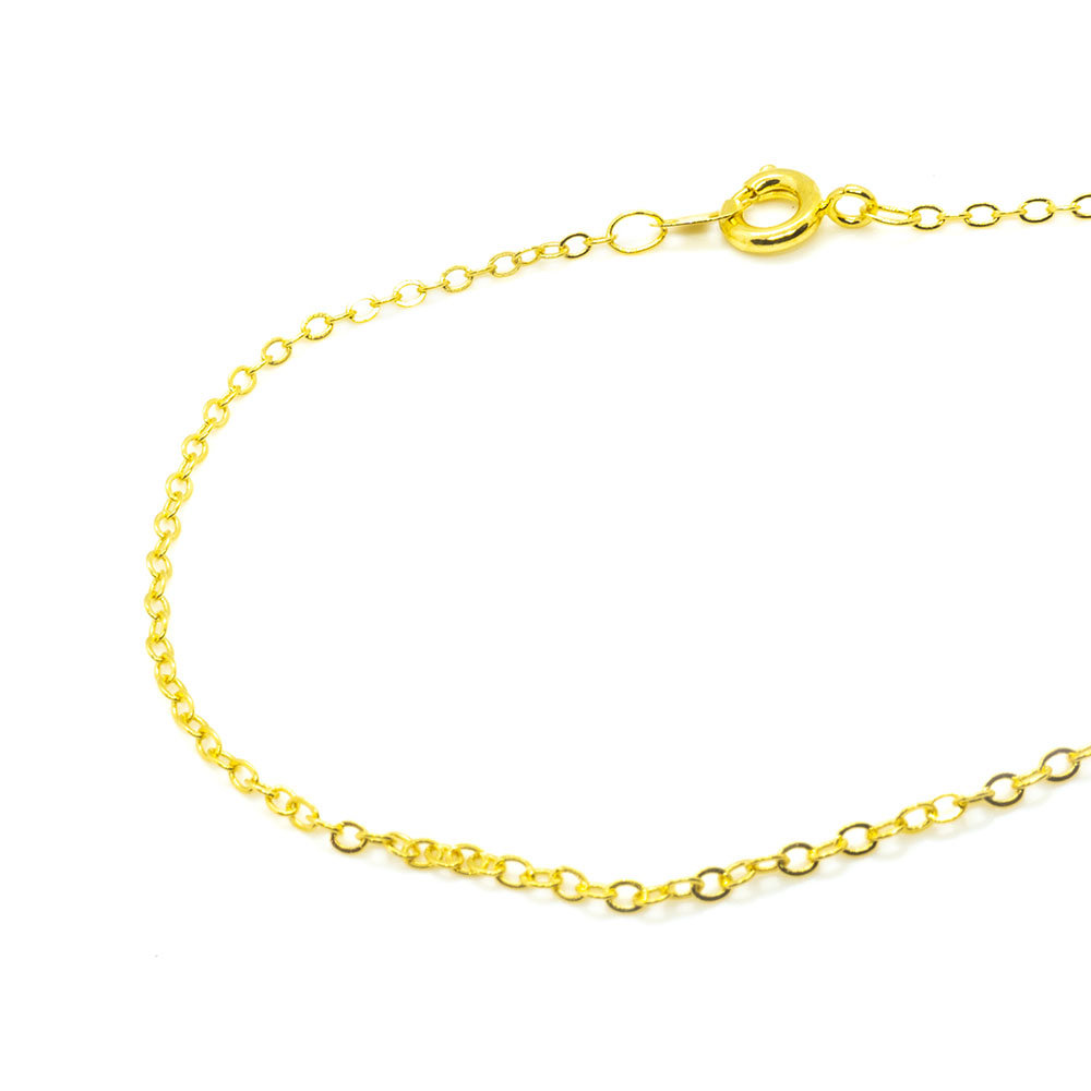 Cable Chain Necklace with Spring Ring Clasp 46cm